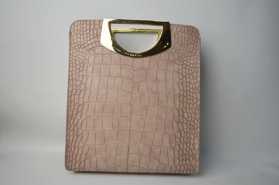 Pink bag with python pattern BE-4757