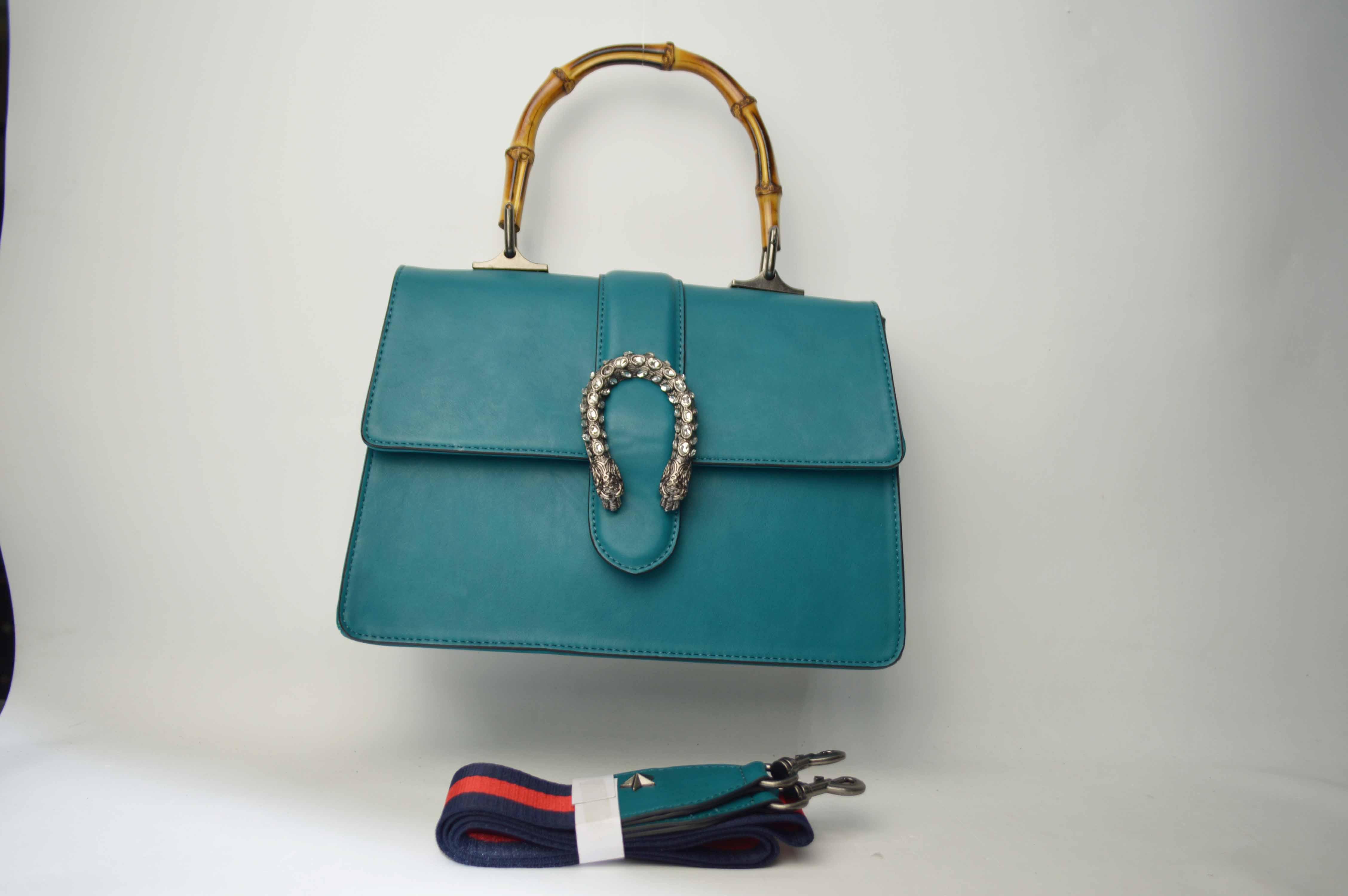 Fashion handbag with bamboo handle BE-4755