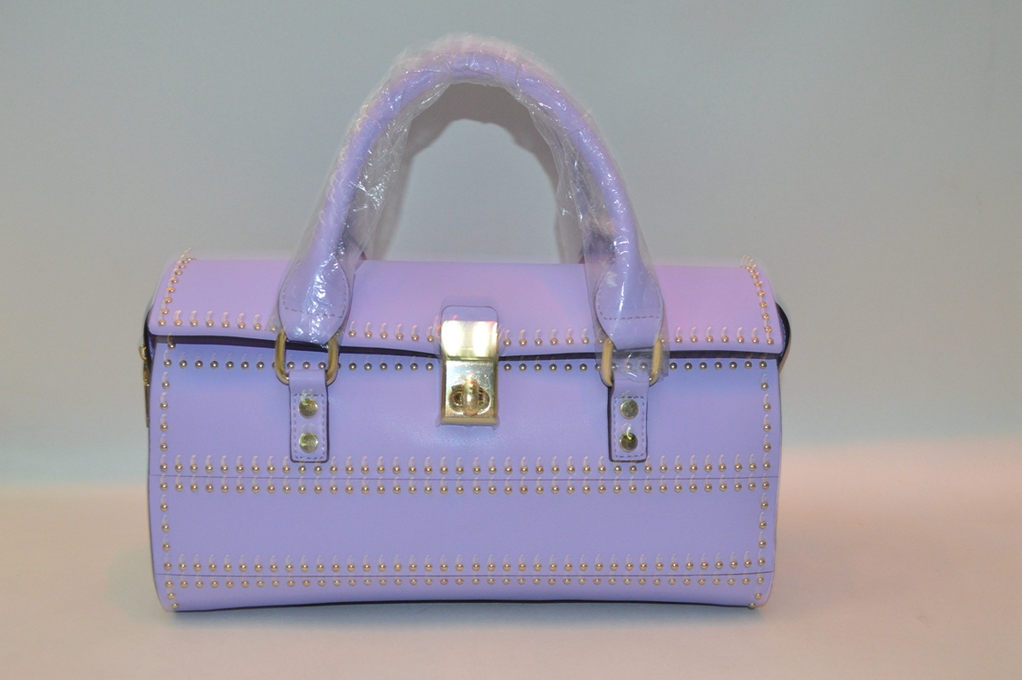 Purple leather handbag BE-4442