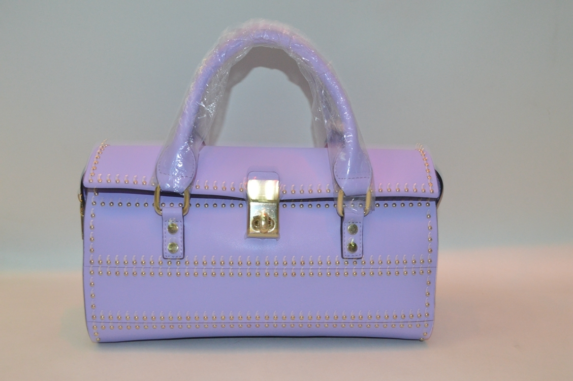 Purple leather handbag BE-4442