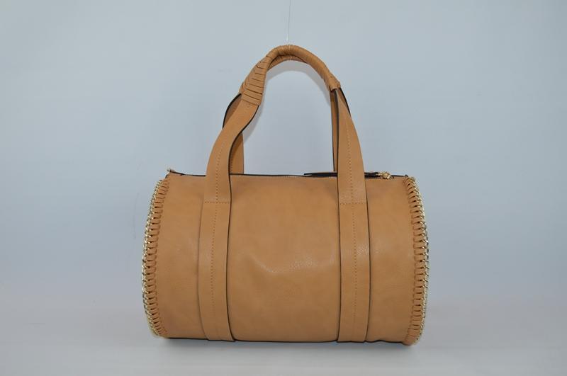 Light brown rounded PU handbag BE-4569
