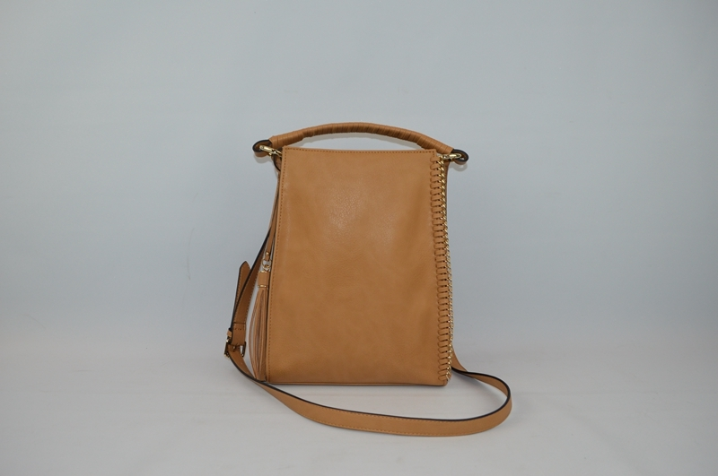 Light brown PU backpack BE-4572