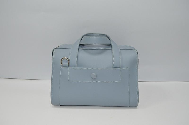 Powder blue PU handbag  BE-4585