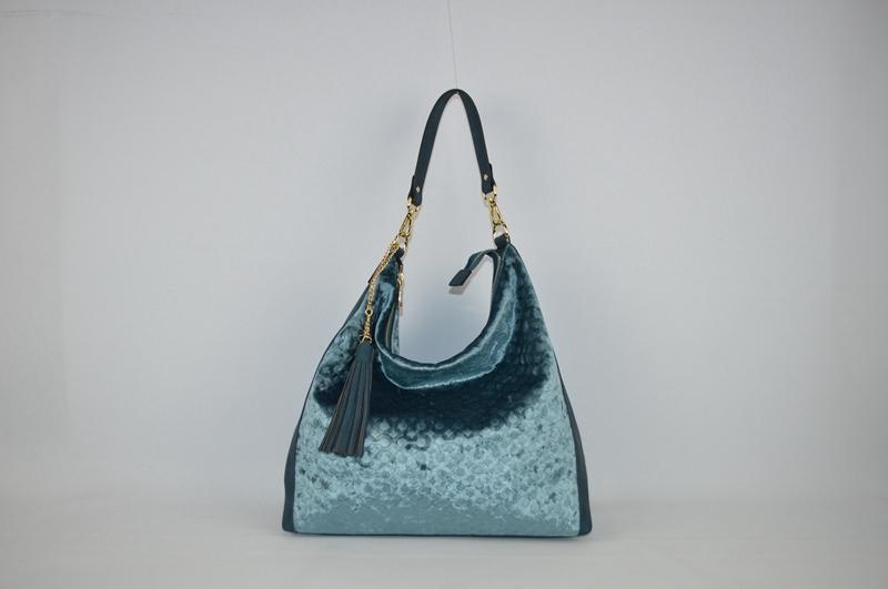 Deep bluish-green PU shoulder bag BE-4578