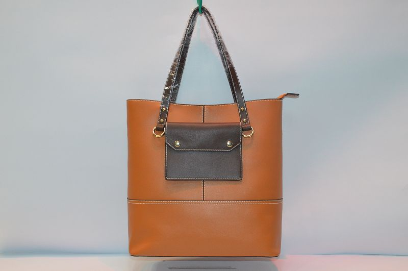 Brown leather Tote bag BE-4513