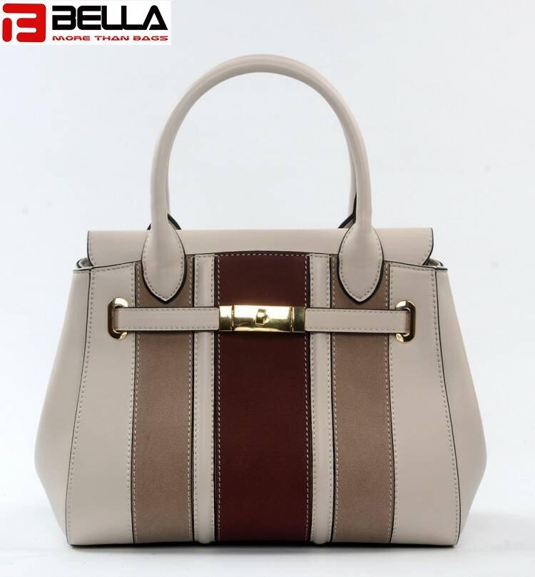 Ladies PU Leather Handbag with Printing Patterns 6015C
