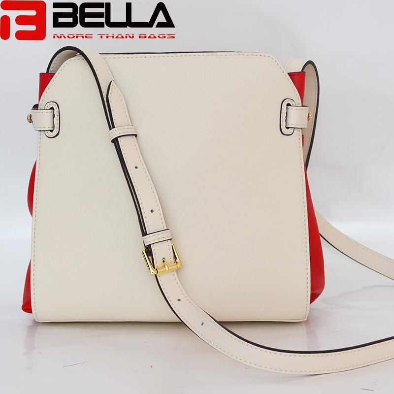 contrast colors genuine leather women handbag crossbody bag BE3852