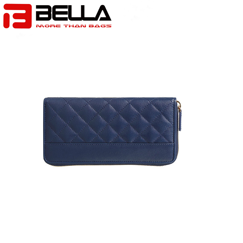 China wholesale gift item promotional Sheepskin diamond quilt lined leather ladies wallet oem leather wallet womenBW012