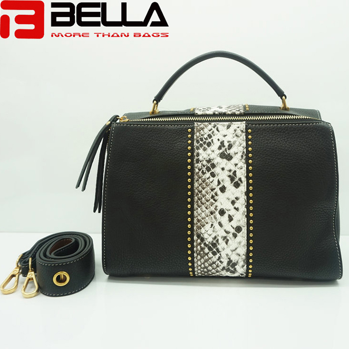 High Quality China Handbag Factory Fake Snake  Leather Ofj2298